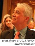 Scott Simon at 2013 PRNDI awards
