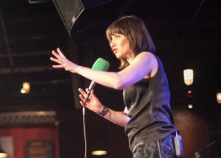 Ophira Eisenberg onstage