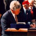 President Clinton signing NAFTA