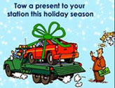 Tow a present to your station