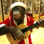 orangutan in Santa hat