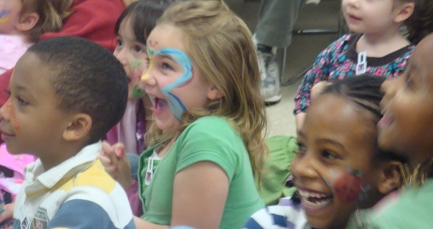 Children face paint
