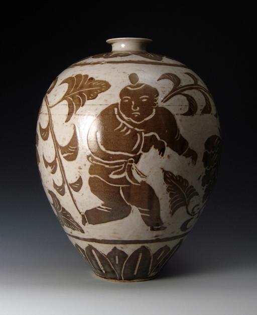 Harmony in Clay Ding Vase