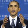 President Obama speaking at TechBoston