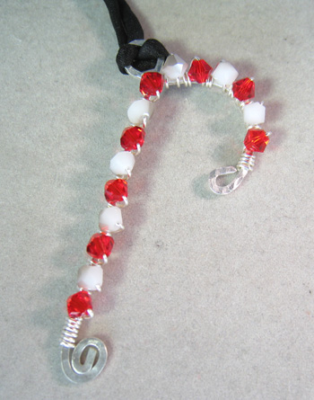 candy cane pendant