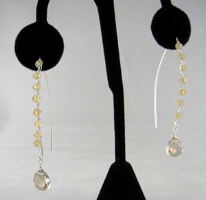 crystal wrapped earrings