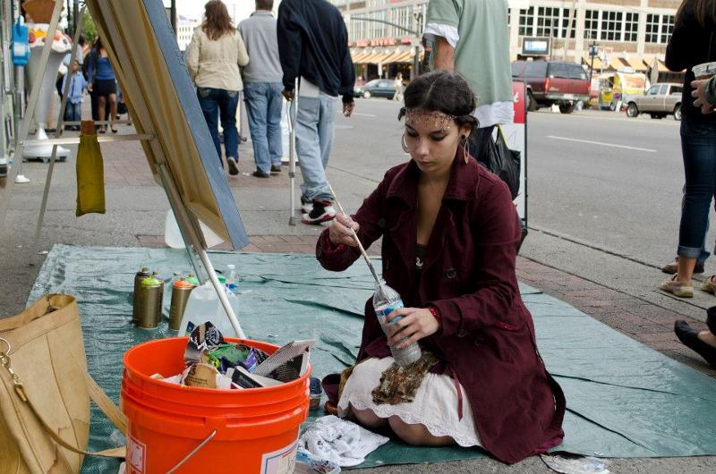 student artist art for change