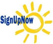 SignUpNow logo with sun