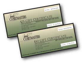 $25 and $50 Gift Certificates