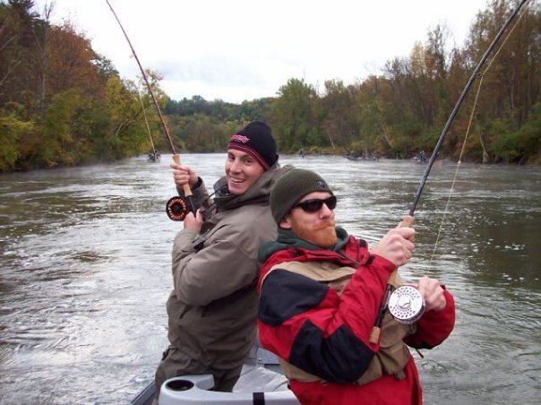 Great lakes guide service salmon are hitting the river for Tippy dam fishing