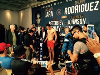 Official Weigh-in: Erislandy Lara 153.6lbs vs Delvin Rodriguez 153.4lbs