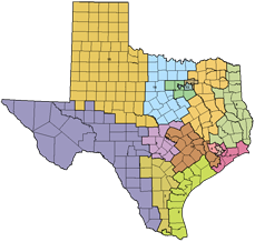 Texas' SBOE Districts 2010