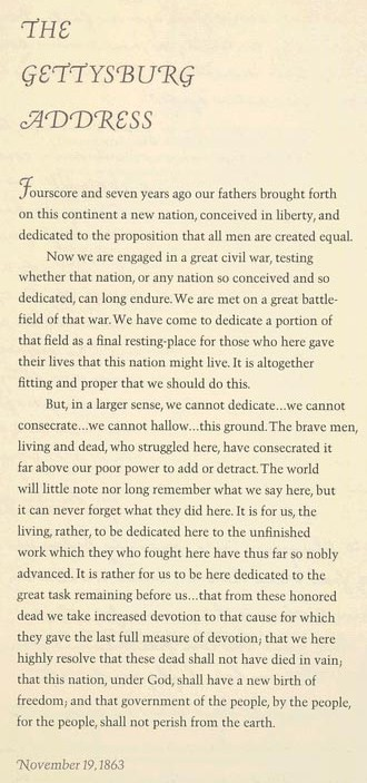 Gettysburg Address-Lincoln Memorial-(LOC)