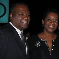 Valerie Ervin and Rushern Baker