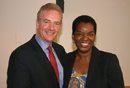 Van Hollen visits with Ervin