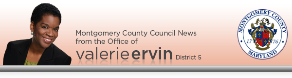 From the County Council Office of Valerie Ervin