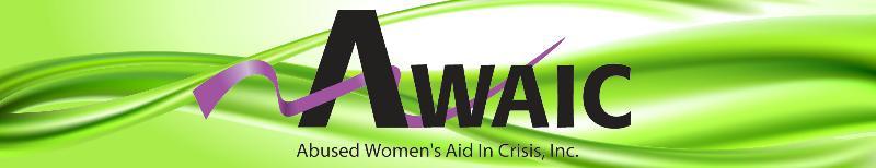 AWAIC logo in green swoosh