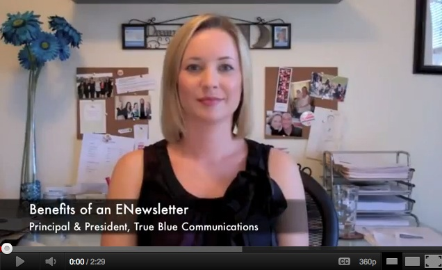 Benefits of an ENewsletter Video Graphic