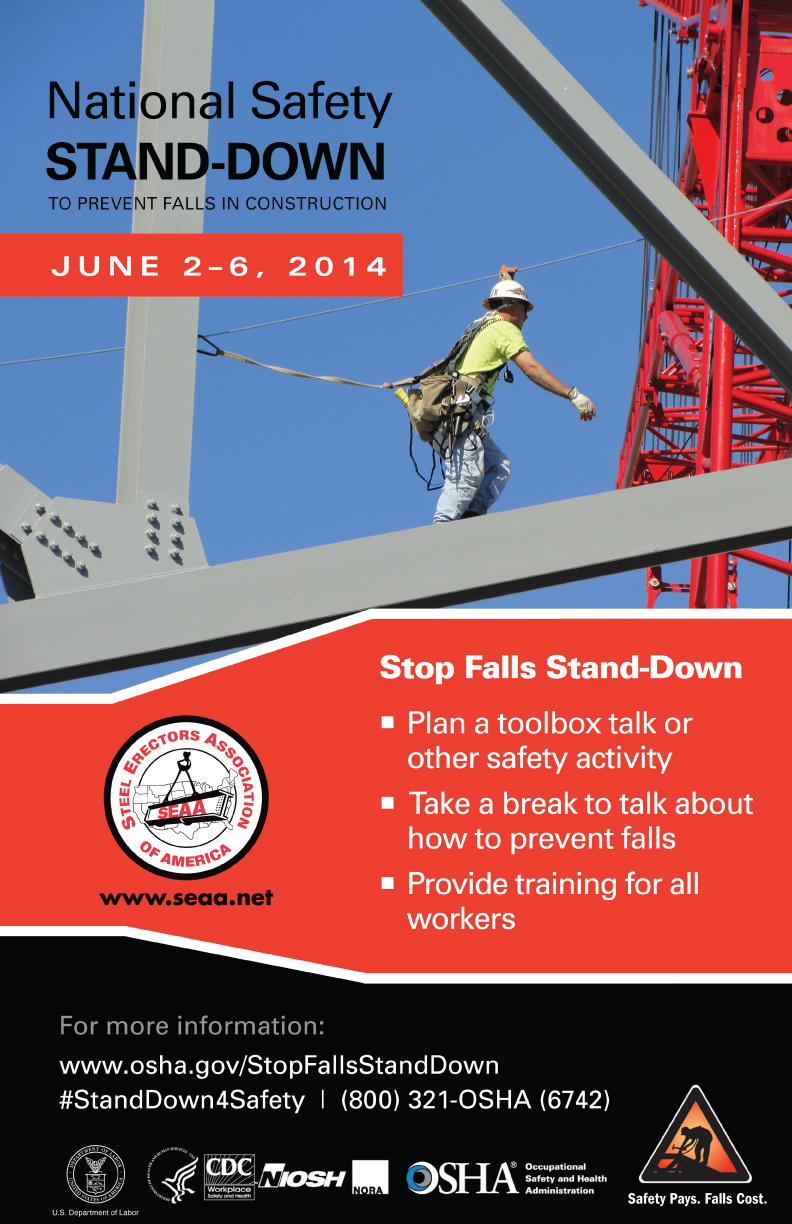 Category e news steel erectors association of america national stand down to prevent falls in construction fandeluxe Images