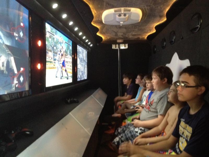 Kids Playing Inside Van