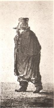Beethoven Walking with overcoat