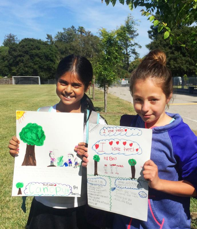 Jr. foresters show off their posters
