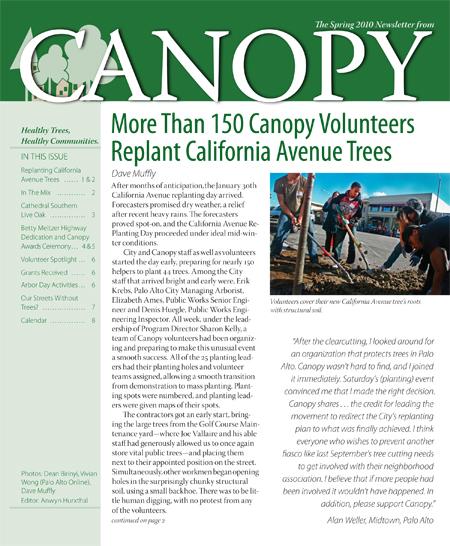 Canopy Spring 2010 Newsletter