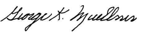 George Muellner Signature