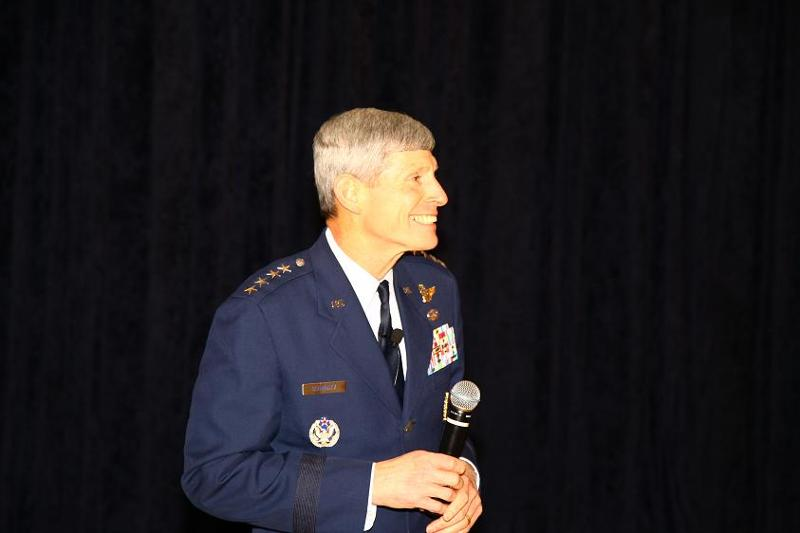 Staff Gen. Norton Schwartz speaks to the Montgomery Chapter