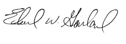 Ed Garland Signature