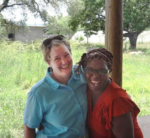 Becky Harmon with Talitha Mthethwa, Ekurhuleni Orphan Center Director