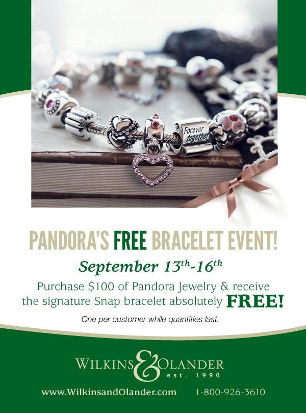 Pandora's Free Bracelet Event