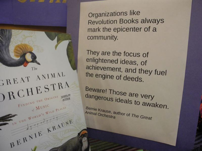 Great Animal Orchestra author recommends Revolution books