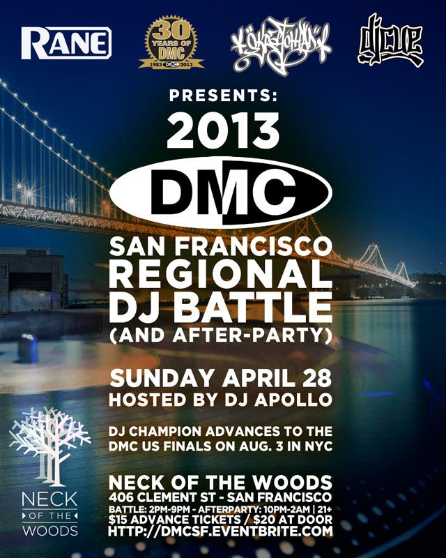 April 28: DMC San Francisco @ Neck of the Woods