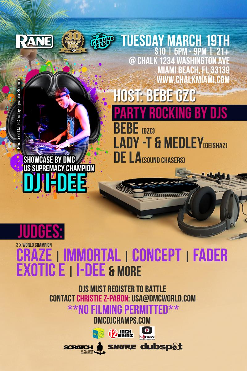 March 19: 2013 DMC Regional DJ Battle