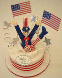 Uncle Sam Surprise Cake