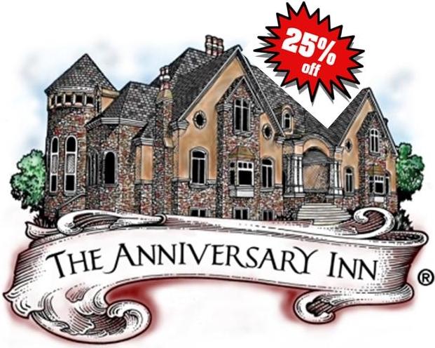 Anniversary Inn 25% discount