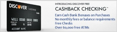 Discover Bank CashBack Checking Account - Save up to $120 a year