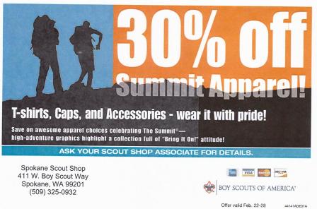 Feb Scout Shop Coupon