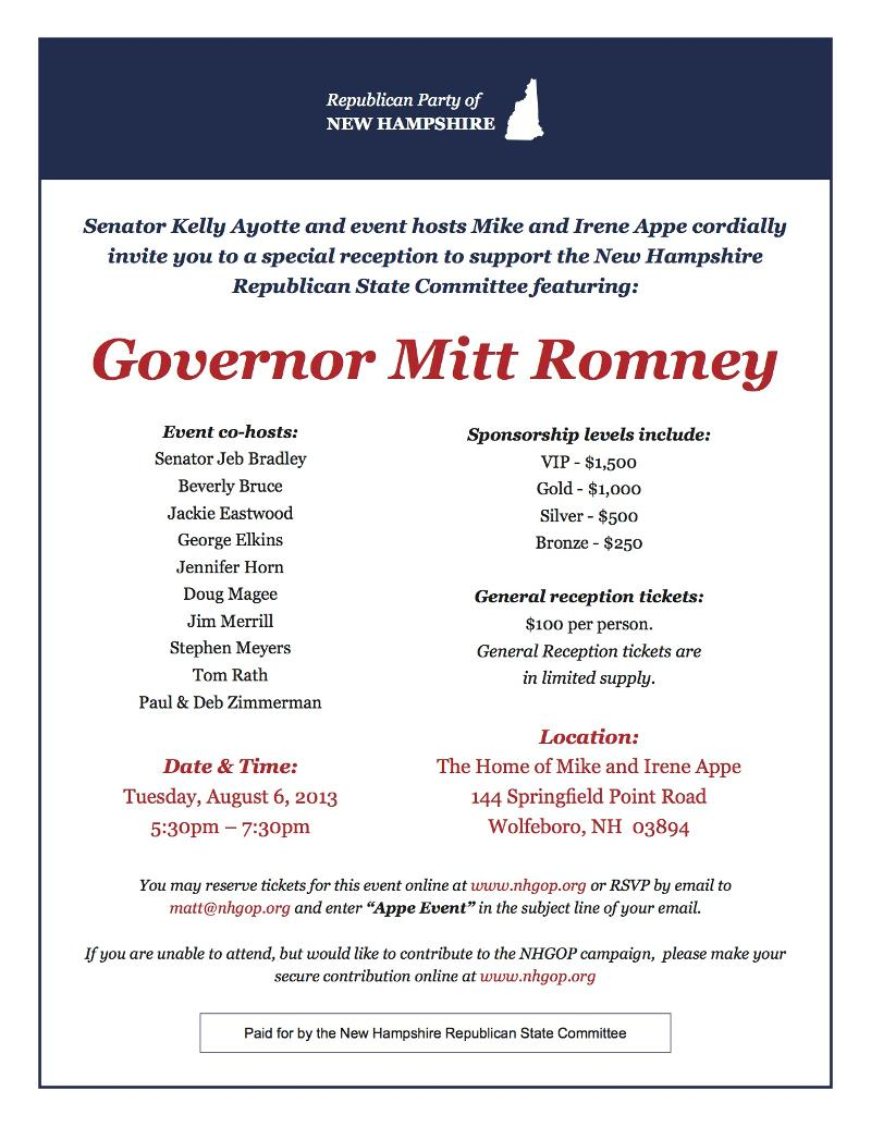 Romney GOP Invite