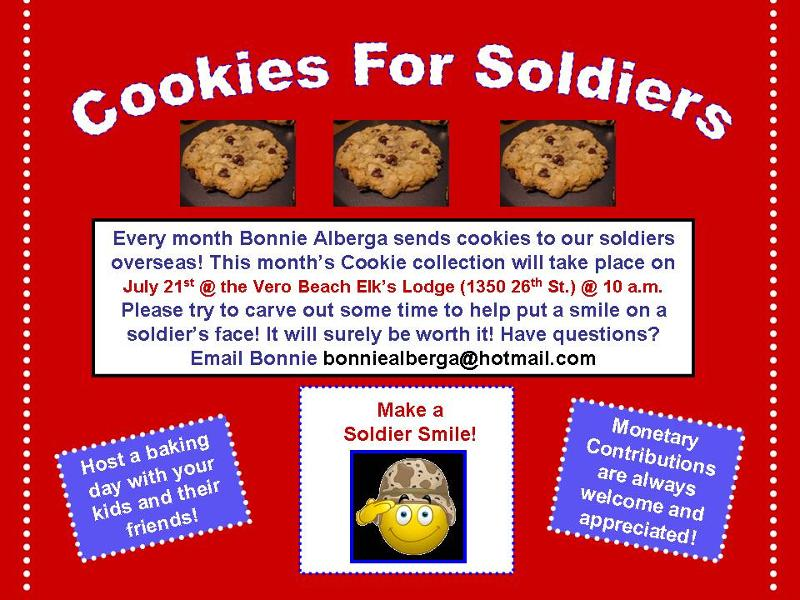 cookies for soldiers