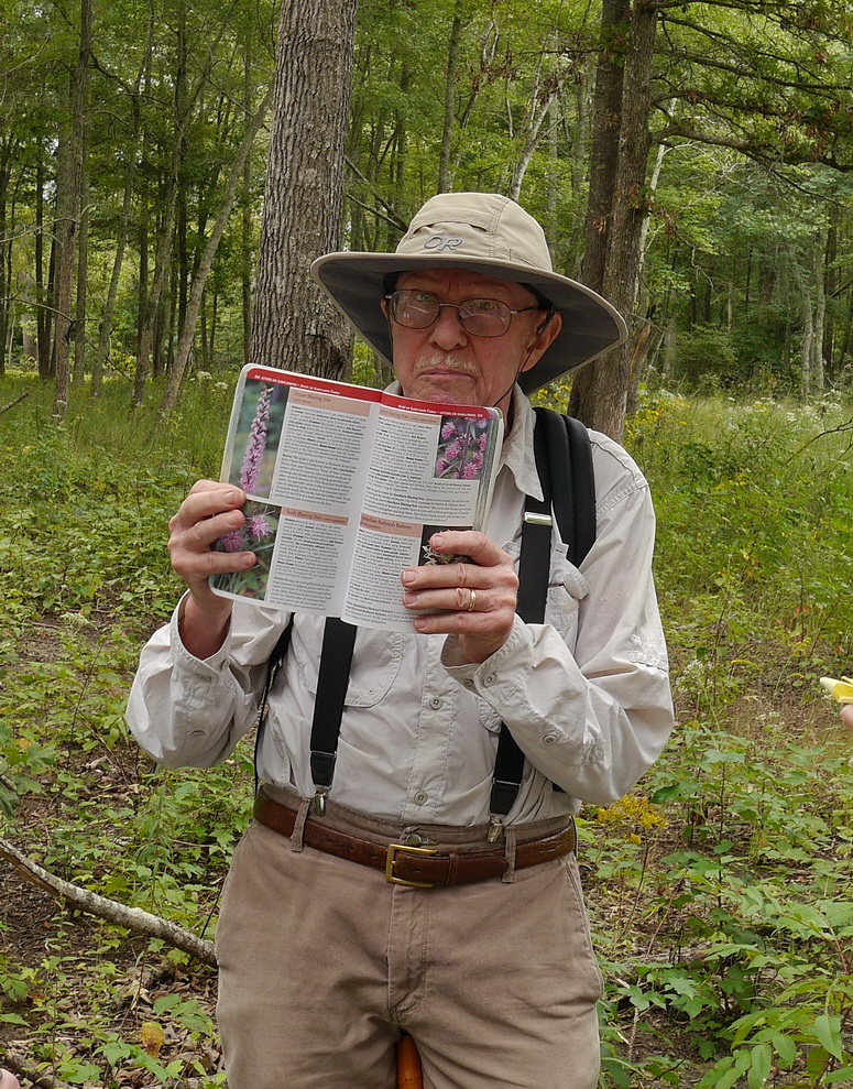 Dennis Horn identifying Plants from his own Wildflowers of Tennessee
