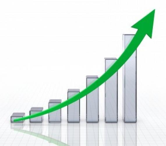 Chart rising