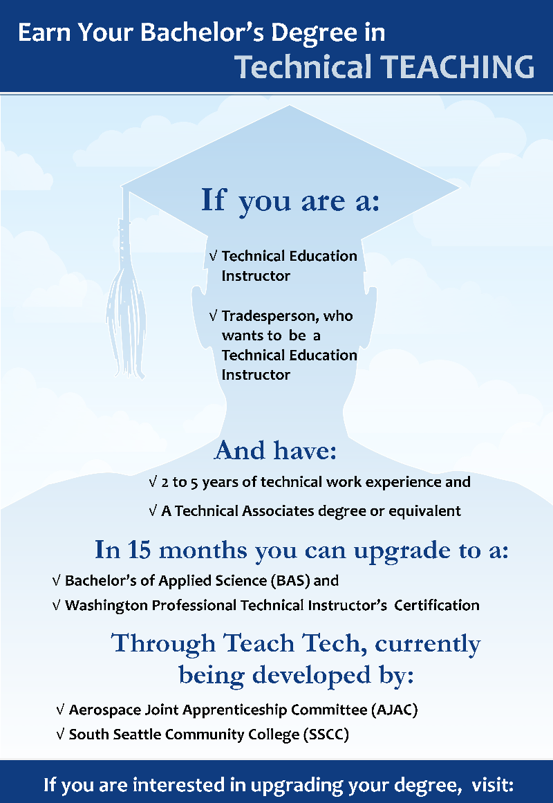 Teach Tech - Earn Your Bachelor's Degree in Technical Teaching