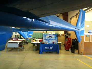 AJAC Booth at Aerospace Workshop for Spokane Area High School Students