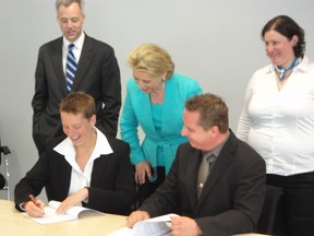 AJAC Executive Director Signs MOUs with German Companies