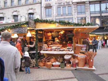 Budapest Christmas Market Stalls