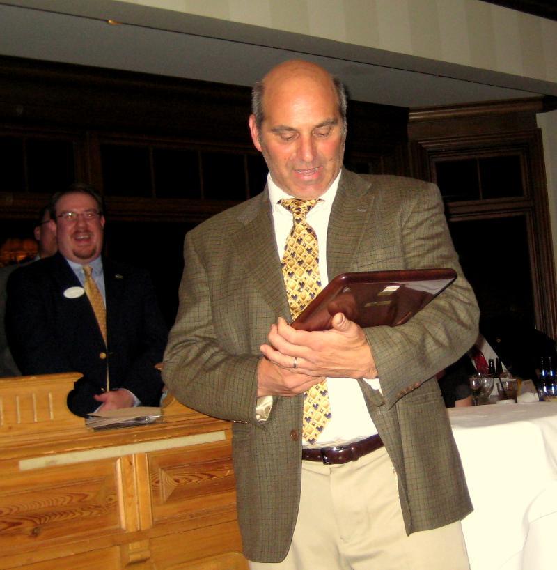 Michael Receiving Award