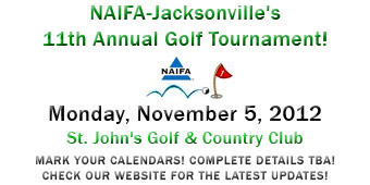 NAIFA-Jacksonville 11th Annual Golf Tournament: Monday, November 5, 2012