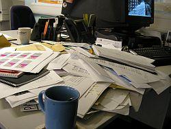 Disorganized Desk